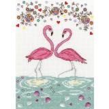 Bothy Threads Stickpackung XKA9 Love Flamingo 18x26