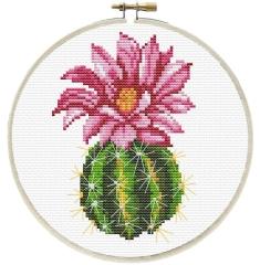 Stickpackung Needleart World 140-062 Pinker Kaktus 15x15