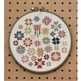 AuryTM Designs Stickvorlage Circle Of Flowers