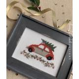 Annalee Waite Designs Stickvorlage Holiday Car