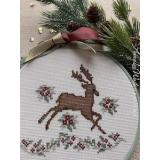 Annalee Waite Designs Stickvorlage Regal Reindeer