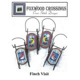 Foxwood Crossings Stickvorlage Finch Visit