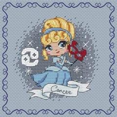 Stickvorlage Les Petites Croix De Lucie Zodiacal Princess 1 Cancer