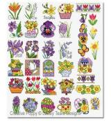 Stickvorlage Lesley Teare Spring Flower Motifs