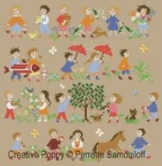 Perrette Samouiloff Stickvorlage Happy Childhood Collection Spring