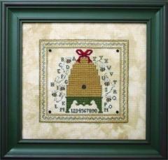 The Bee Cottage Stickvorlage Alphabet Bee Skep