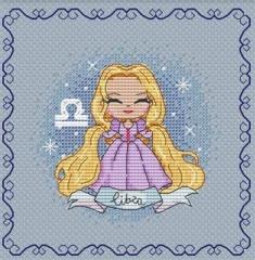 Stickvorlage Les Petites Croix De Lucie Zodiacal Princess 3 Libra