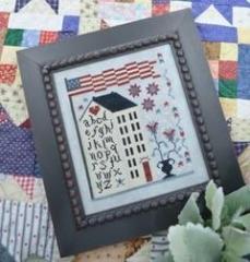 Annie Beez Folk Art Stickvorlage American Sampler House