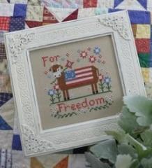 Annie Beez Folk Art Stickvorlage For Freedom