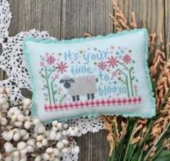 Annie Beez Folk Art Stickvorlage Time To Bloom