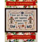 Monticello Stitches Stickvorlage Keys To Happiness