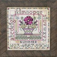 Tellin Emblem Stickvorlage Seasonal Sampler - Summer
