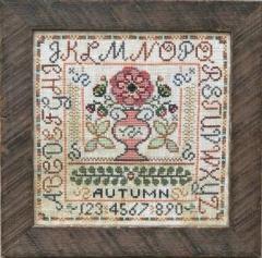 Tellin Emblem Stickvorlage Seasonal Sampler - Autumn