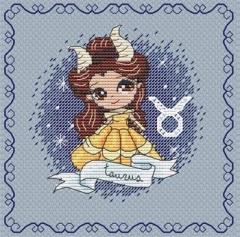 Stickvorlage Les Petites Croix De Lucie Zodiacal Princess 6 Taurus