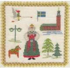 Stickpackung Haandarbejdets Fremme 17-3019,04 Schweden 18x18