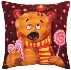 Kreuzstichkissen Collection dArt 5394 - Candyteddy 40x40