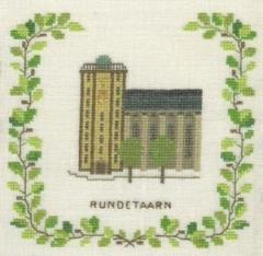 Stickpackung Haandarbejdets Fremme 17-5134,1 Runder Turm Kopenhagen 15x15
