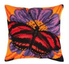 Kreuzstichkissen Collection dArt 5306 - Schmetterling 40x40
