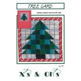 Stickvorlage Xs and Ohs Tree Card
