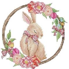Stickvorlage Les Petites Croix De Lucie Springs Rabbit