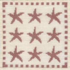 Stickpackung Haandarbejdets Fremme 17-9812 Seesterne 15x15