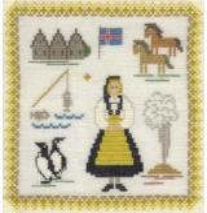 Stickpackung Haandarbejdets Fremme 17-3019,07 Island 18x18