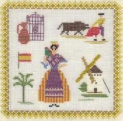 Stickpackung Haandarbejdets Fremme 17-3019,08 Spanien 18x18