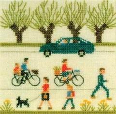 Stickpackung Haandarbejdets Fremme 30-5788 Radfahren 13x13