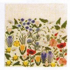 Stickpackung Haandarbejdets Fremme 20-6213,01 Kissen Wildblumen 30x30