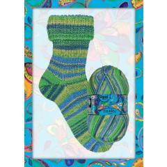Opal Sweet Paradise Sockenwolle 6-fach - Meer der Zufriedenheit 11023