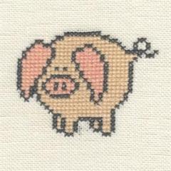 Stickpackung Haandarbejdets Fremme 30-9972,01 Schwein 12x12