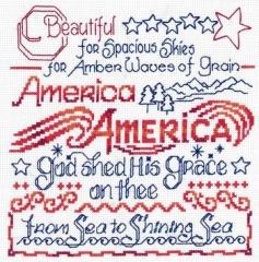 Stickvorlage Imaginating America The Beautiful