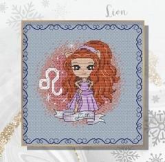 Stickvorlage Les Petites Croix De Lucie Zodiacal Princess 7 Leo