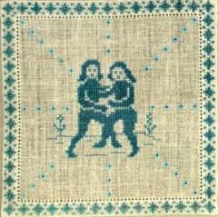 Stickpackung Haandarbejdets Fremme 17-2240,06 Sternzeichen Zwilling 15x15
