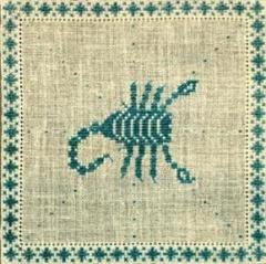 Stickpackung Haandarbejdets Fremme 17-2240,11 Sternzeichen Skorpion 15x15