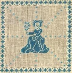 Stickpackung Haandarbejdets Fremme 17-2240,09 Sternzeichen Jungfrau 15x15