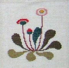 Stickpackung Haandarbejdets Fremme 17-1432,01 Bellisblumen 16x16