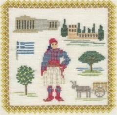 Stickpackung Haandarbejdets Fremme 17-3019,01 Griechenland 18x18