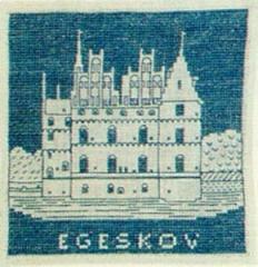 Stickpackung Haandarbejdets Fremme 17-4706 Schloss Egeskov 15x15