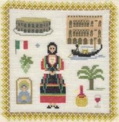 Stickpackung Haandarbejdets Fremme 17-3019,02 Italien 18x18