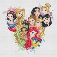 Stickvorlage Les Petites Croix De Lucie Magic Kingdom Princess