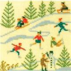 Stickpackung Haandarbejdets Fremme 30-5791 Wintersport 13x13