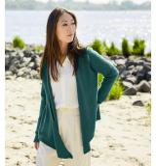 Rosy Green Wool Strickmuster Kanshoku - Damenstrickjacke