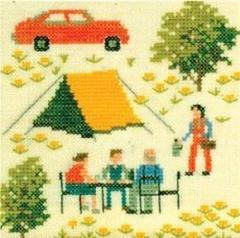 Stickpackung Haandarbejdets Fremme 30-5790 Camping 13x13