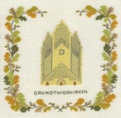 Stickpackung Haandarbejdets Fremme 17-5131,3 Grundtvigs Kirche Kopenhagen 15x15