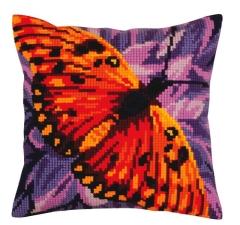 Kreuzstichkissen Collection dArt 5307 - Schmetterling 40x40
