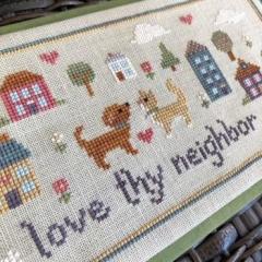 Stickvorlage Sweet Wing Studio Love Thy Neighbor