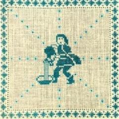 Stickpackung Haandarbejdets Fremme 17-2240,02 Sternzeichen Wassermann 15x15