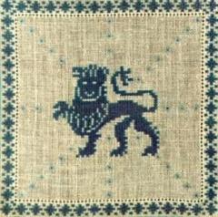 Stickpackung Haandarbejdets Fremme 17-2240,08 Sternzeichen Löwe 15x15