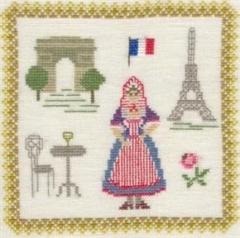 Stickpackung Haandarbejdets Fremme 17-3019,05 Frankreich 18x18